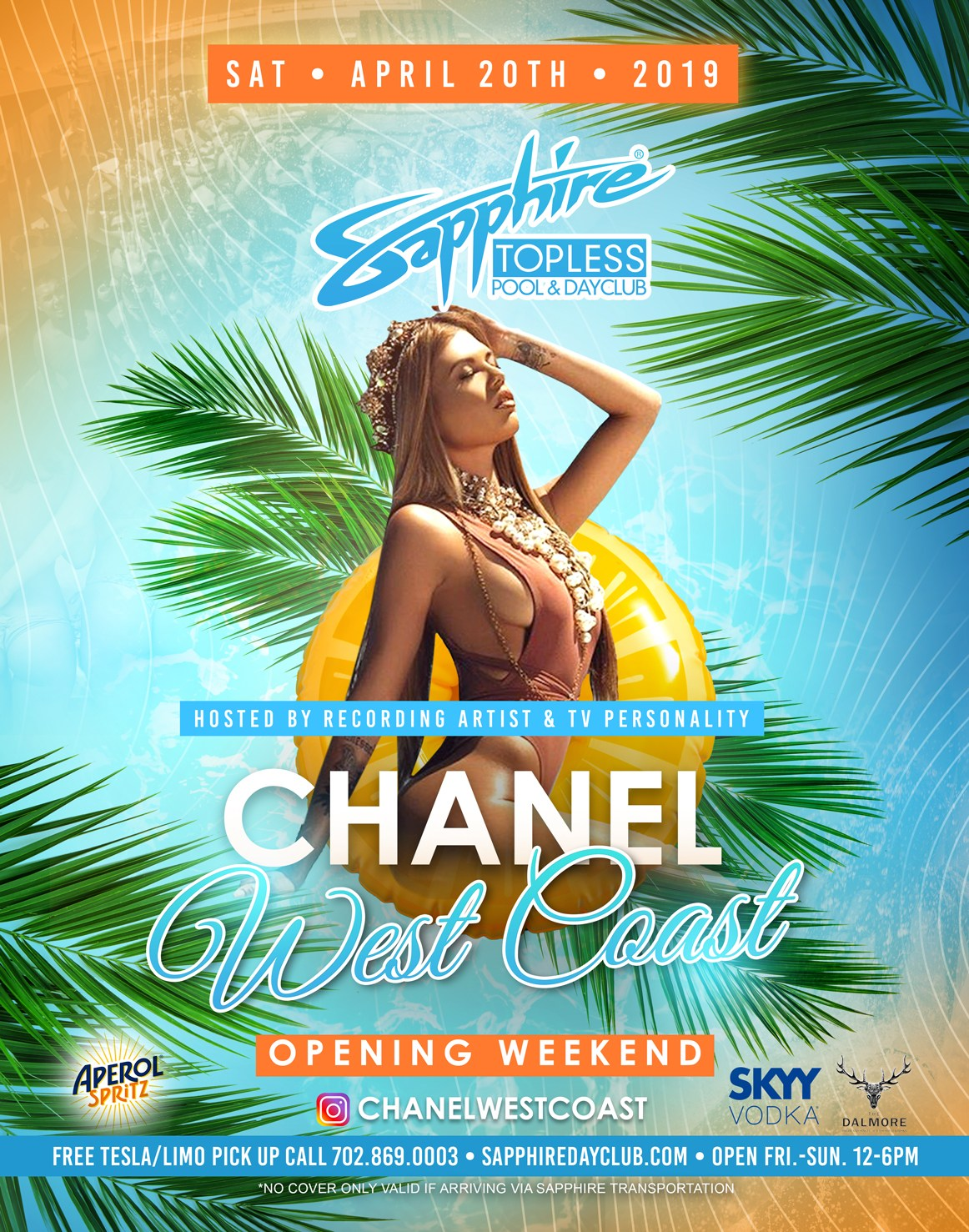 MTV Star Chanel West Coast Hosts Sapphire Pool and Dayclub Saturday, April 20th, 2019