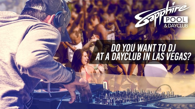 DJ at a Dayclub in Las Vegas