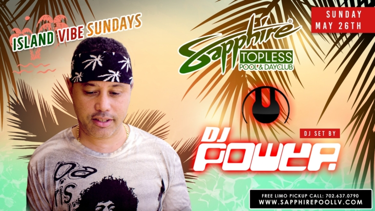 DJ Power Performs LIVE Sapphire Topless Pool and Dayclub