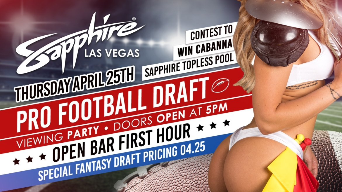 Join us for our first ever Professional Football Draft Viewing Party!