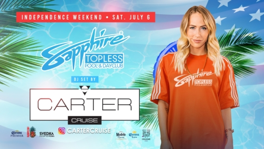 DJ Carter Cruise Performs LIVE Sapphire TOPLESS Pool and