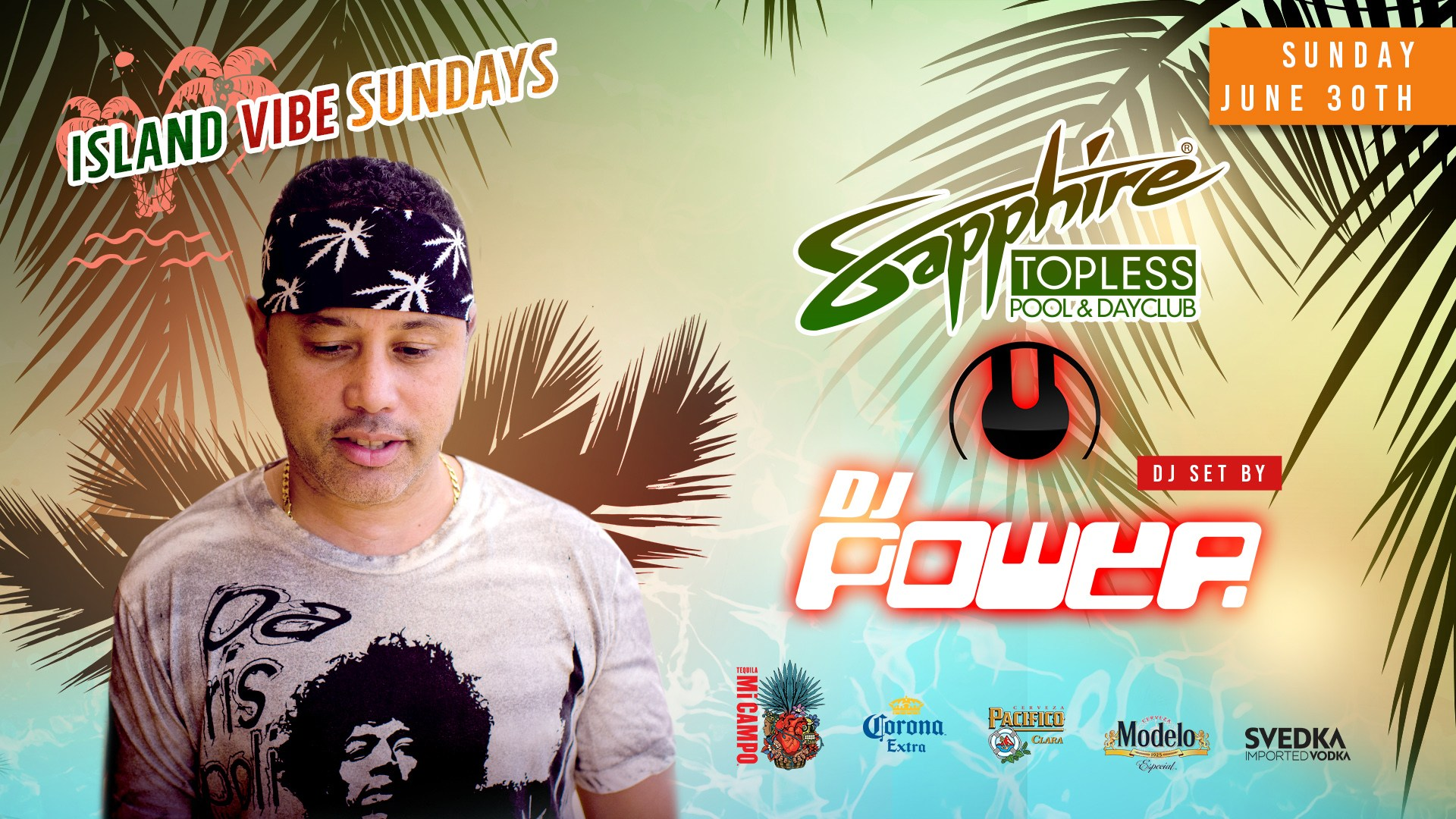 DJ Power Performs LIVE at Sapphire Topless Pool and