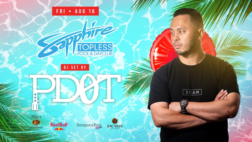 DJ PDot Performs LIVE Sapphire Topless Pool and Dayclub