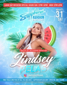 Hosted by Instagram Sensation Lindsey Pelas