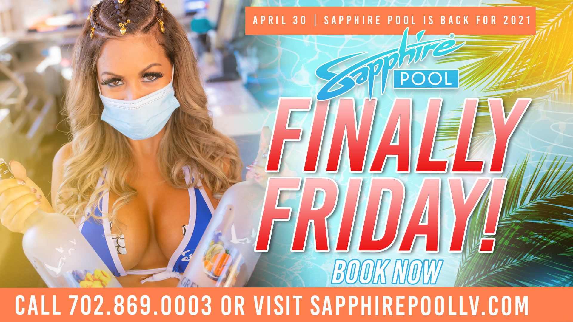 Finally Friday – April 30 – at Sapphire Pool in Las Vegas
