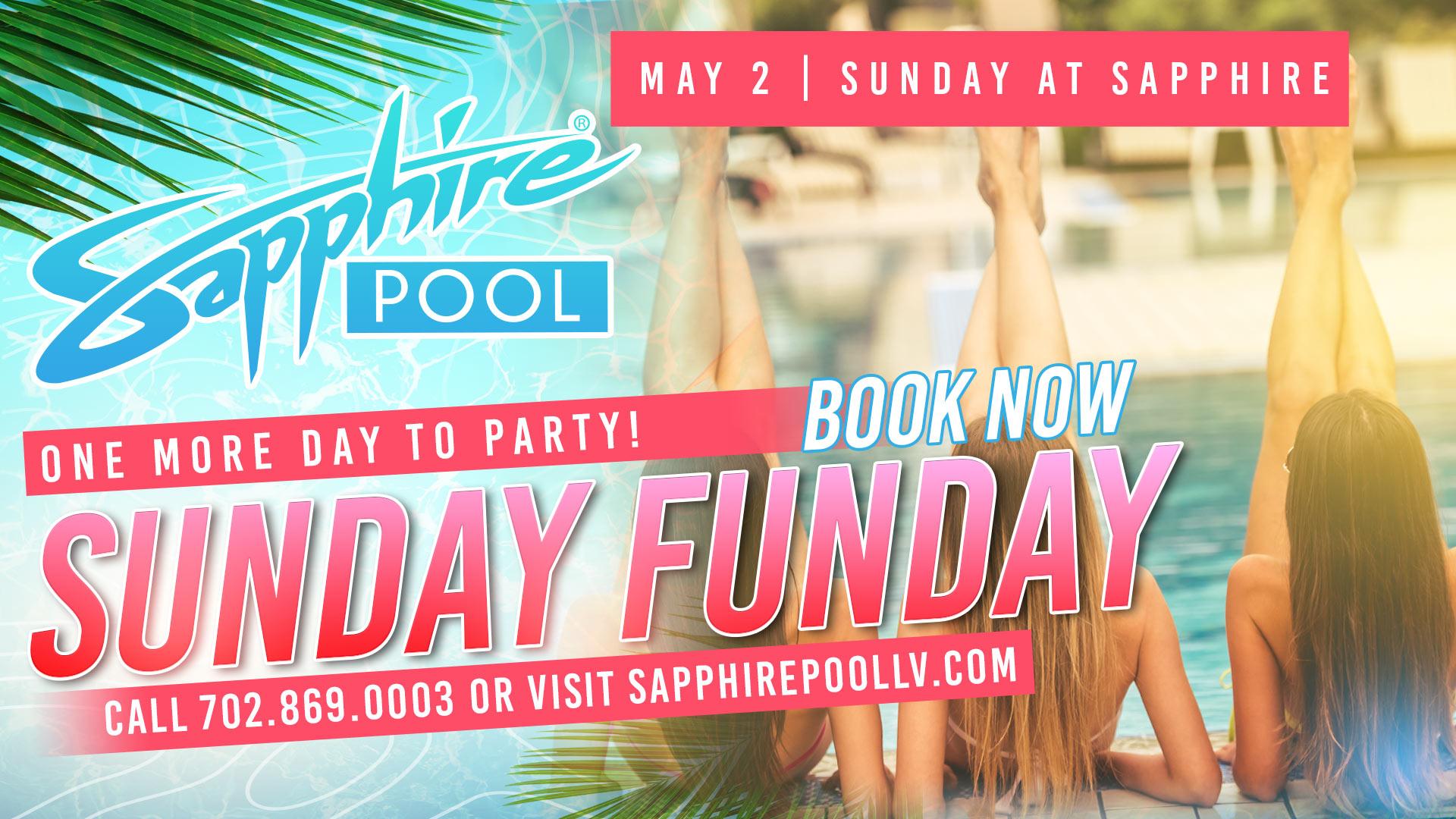 Sunday Funday – May 2 – Poolside Vegas party