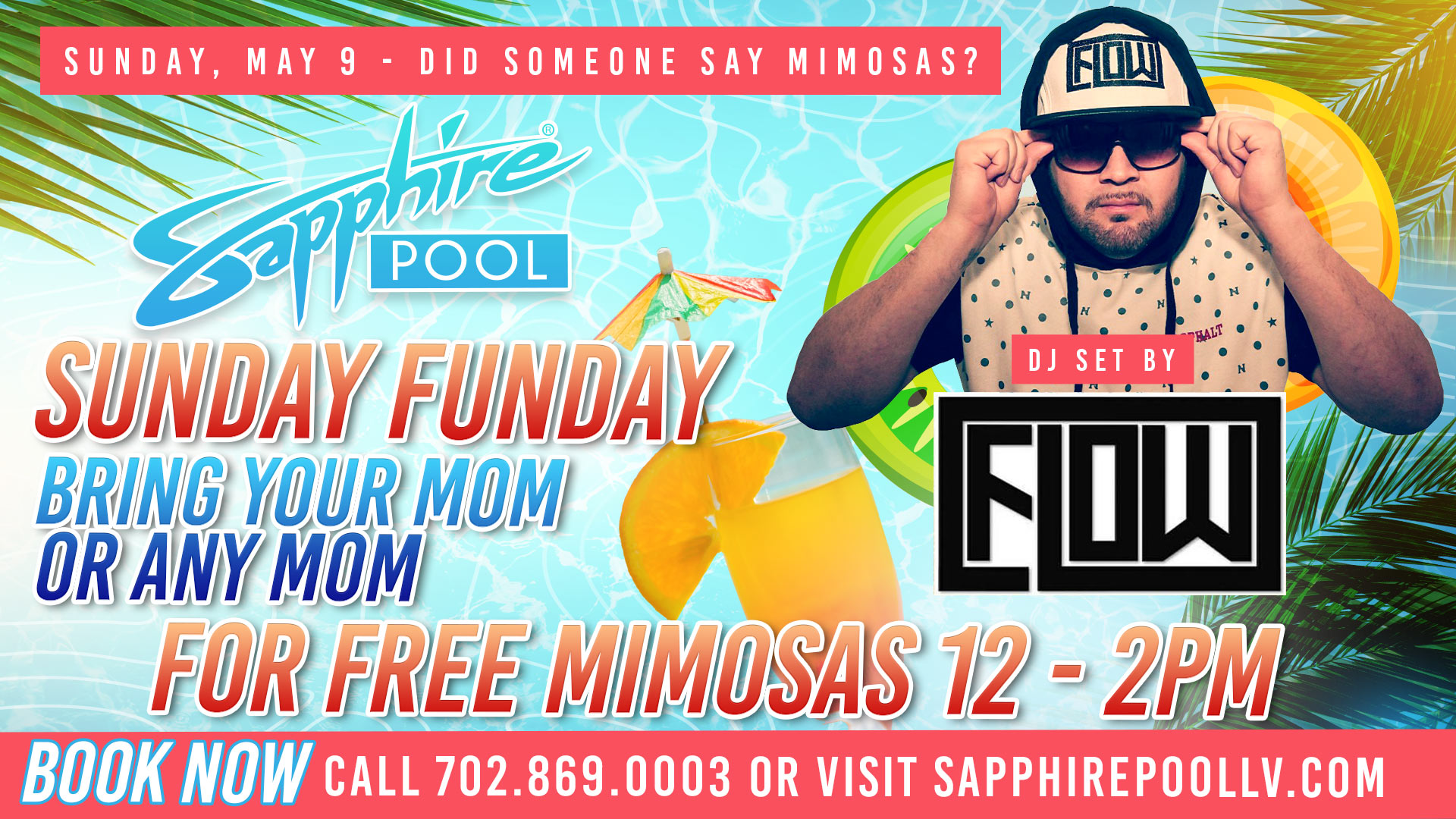 DJ Flow Performs LIVE For Mothers Day – May 9th – Poolside Vegas party