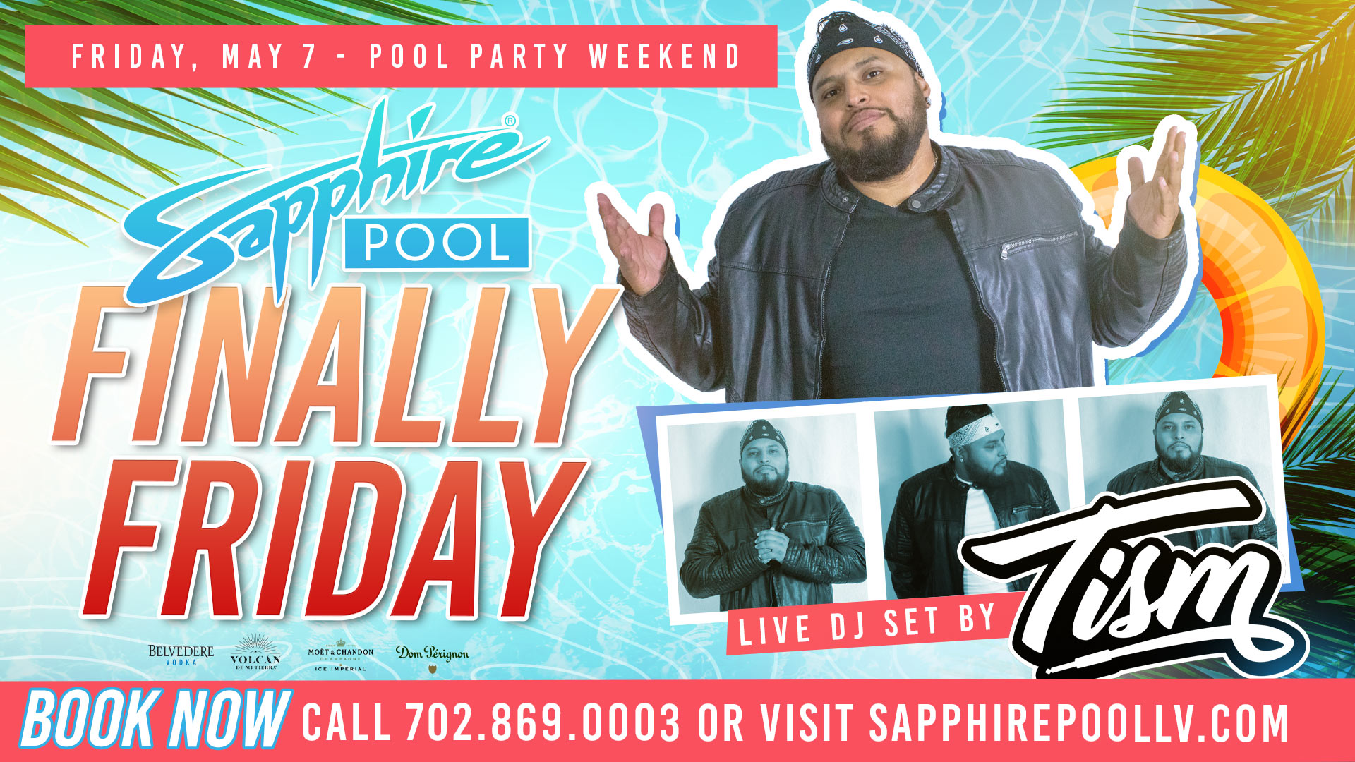 DJ Tism Performs Live For Finally Friday at Sapphire Pool in Las Vegas- May 7th