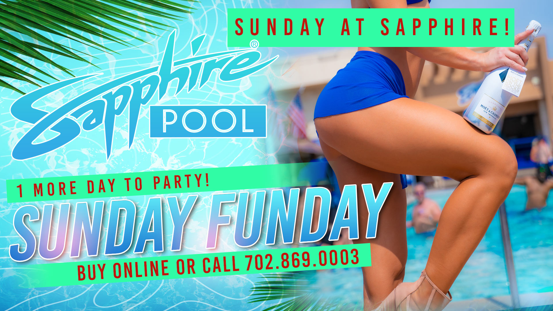 Sunday Funday – June 27th – Poolside Vegas party