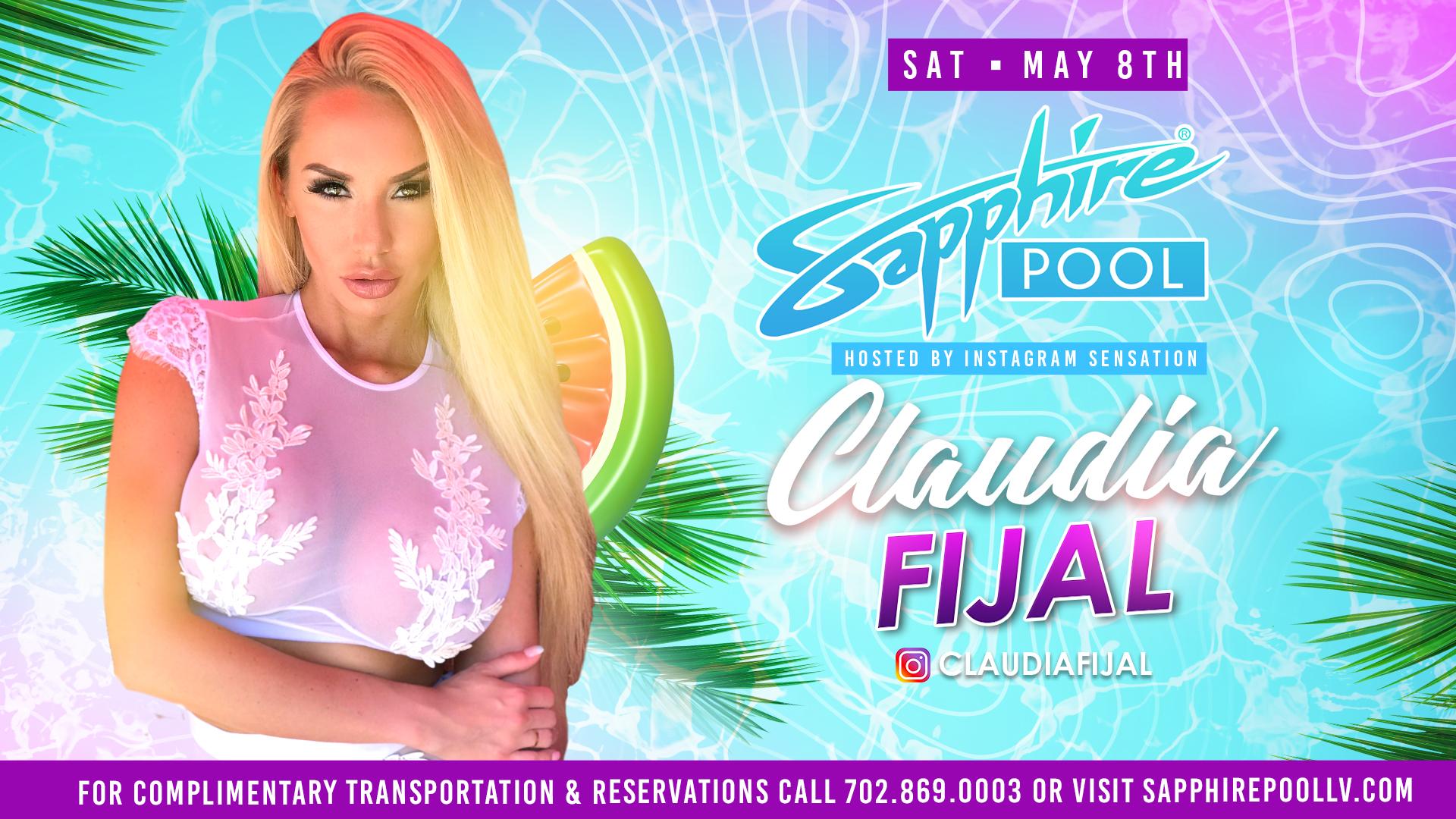 Join Social Media Super Star Claudia Fijal at Sapphire Pool – May 8th