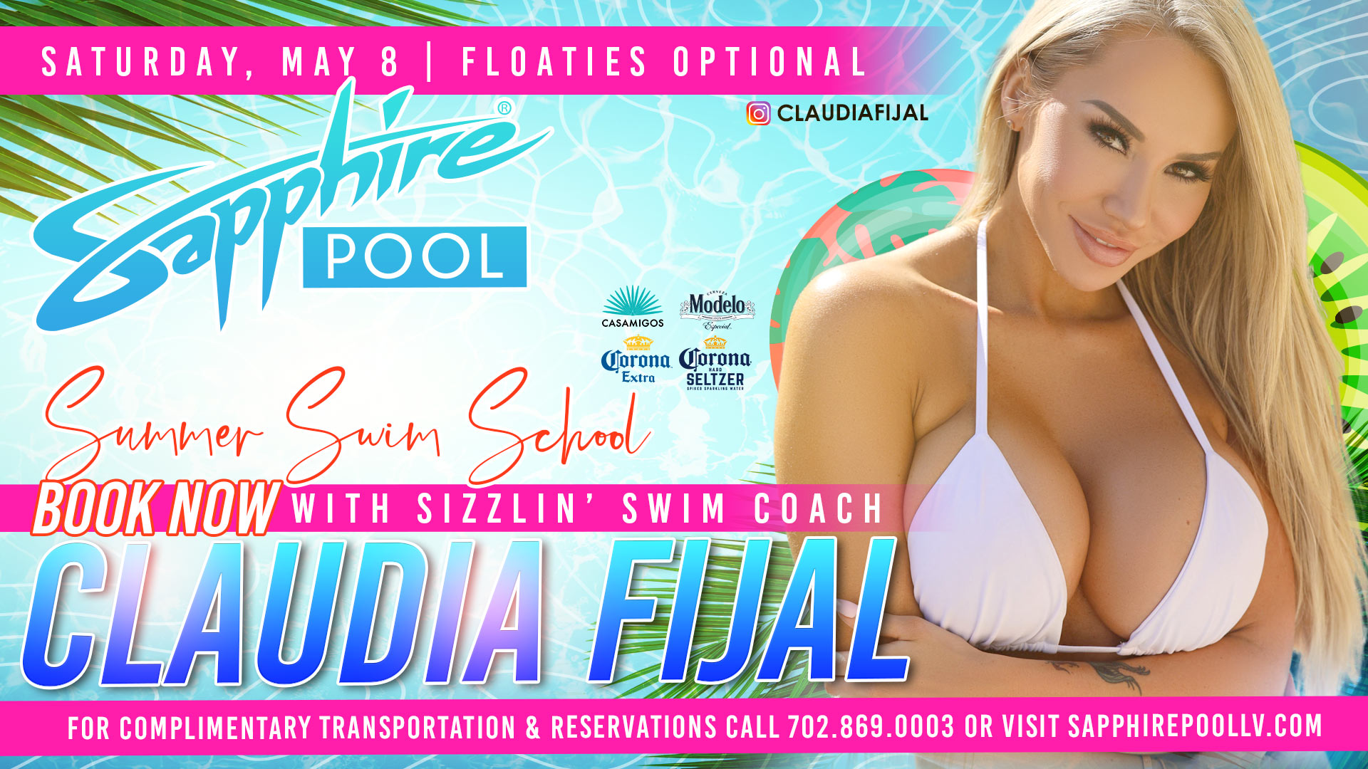 Sapphire Topless Pool & Day May 7th -May 9th Line Up!