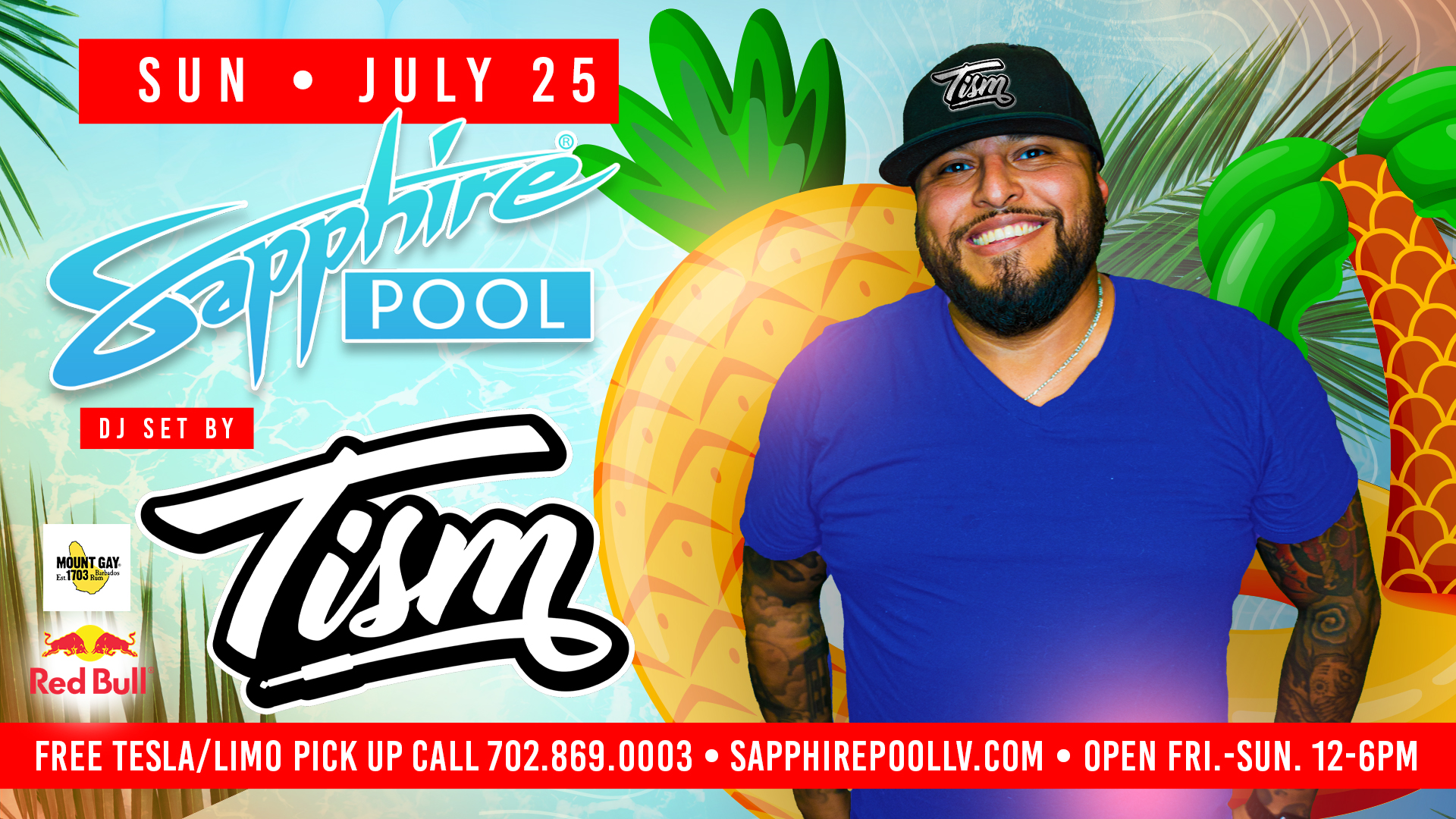 DJ Tism Performs Live For Sunday Funday At Sapphire Dayclub – July 25th