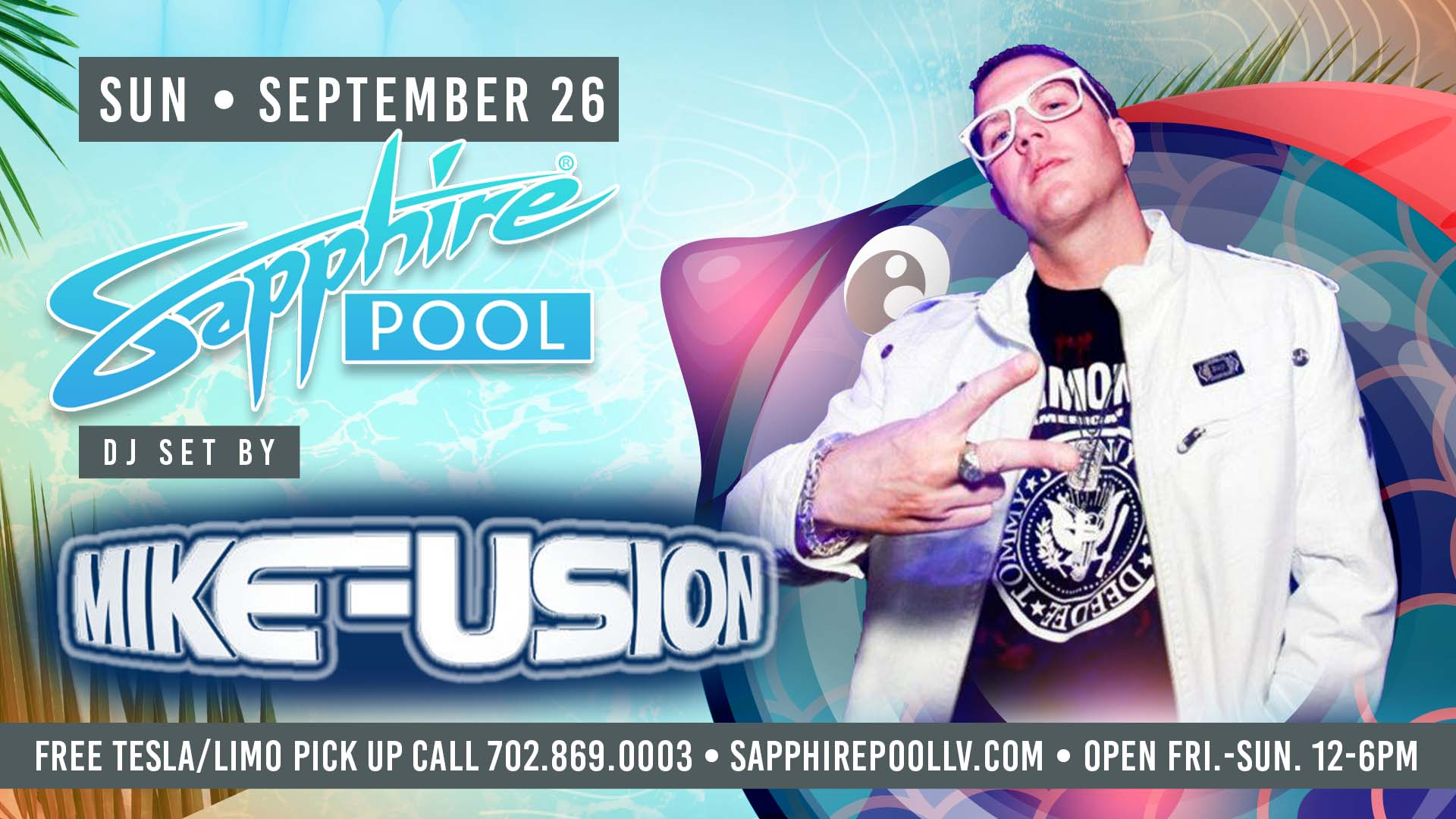 DJ Mike Fusion Performs LIVE For Sunday Funday – Sept 26th – Poolside Vegas Party
